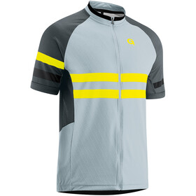 Gonso Boval T-shirt de cyclisme manches courtes avec zip Homme, pearl blue